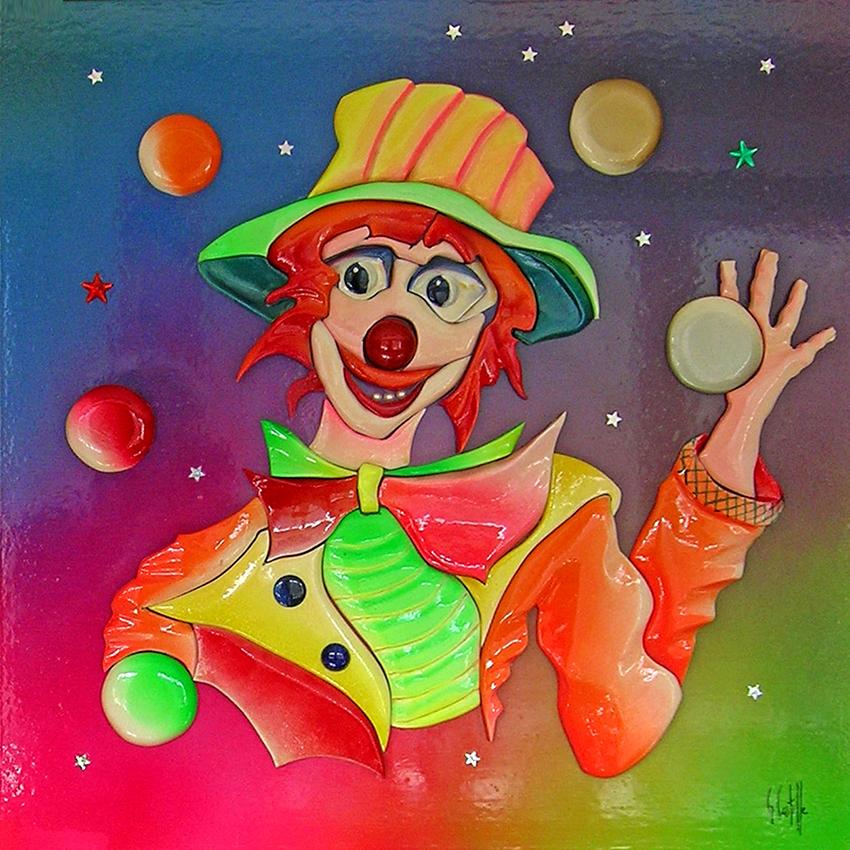 clown60x60cm